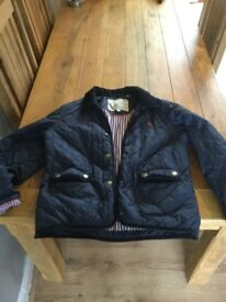 Ladies jack Wills size 14 blue quilted jacket