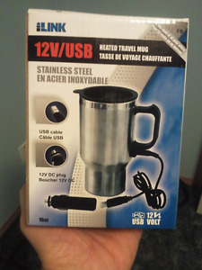 New 12V/USB Travel coffee cup
