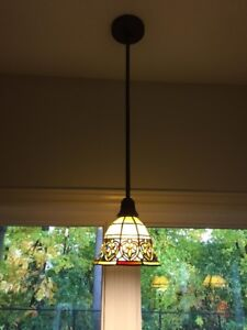 Stained Glass Pendant Lighting - New Condition!