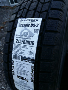 NEW 215/60/R16 DUNLOP GRASPIC WINTER TIRES