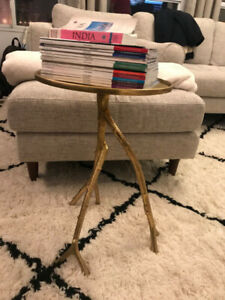 Trendy Gold Side Table