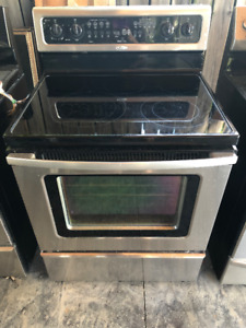 whirlpool stainless steel glass top stove