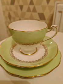 Vintage Bone China Teacup, Saucer and Side Plate