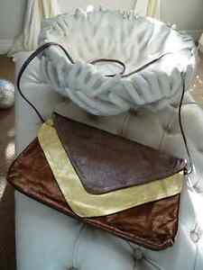 DISCO DAYS are here again! vintage METALLIC LEATHER CLUTCH PURSE Cambridge Kitchener Area image 1