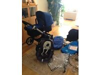 Bugaboo Buffalo bundle in royal blue with Maxi Cosi Pebble car seat 1 year old