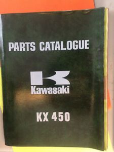1974 Kawasaki KX450 Parts Catalogue