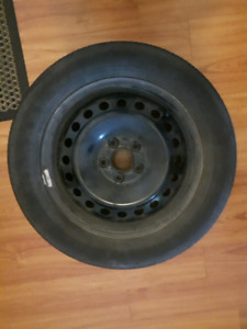Set of 4 tires and steel rims