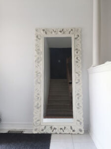 MOVING SALE! URBAN BARN MIRROR & DINING TABLE, MIRRORED CONSOLE