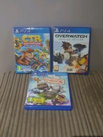 PS4, CTR Crash Latest Game, Little Big plant 3, Overwatch Origins Edit