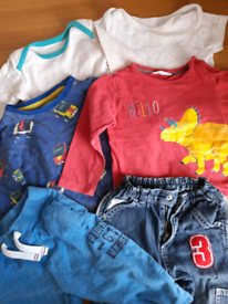 9-12m boys clothes - tops, trousers, vests