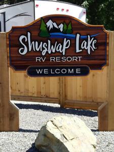 Shuswap Lake RV site