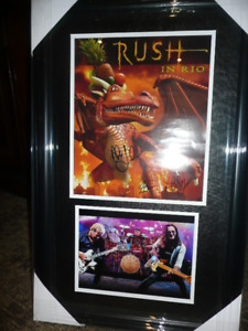 Autographed - RUSH picture - by the 3 boys from willowdale