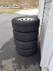 4 Winter Tires on Rims - For Sale