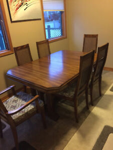 Dining Room Set Table 6 Chairs China Cabinet