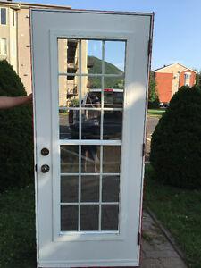 Porte extérieur en acier avec moustiquaire