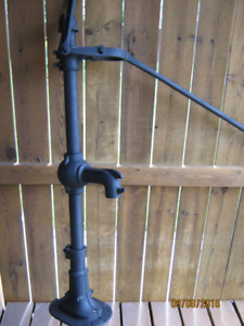 Antique Well Pump from the 1800s, Steel Handle