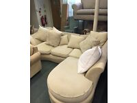 Fabric Cream Corner Sofa