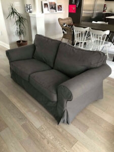 Ikea Ektorp Loveseat - Nordvalla Dark Grey