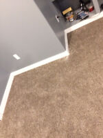 Baseboards, Casing  and all trims installations and Caulking, Al