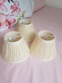 3 x Laura Ashley chandelier shades cream