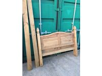 PINE DOUBLE BED FRAME with FREE MATTRESS