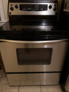 KitchenAid Superba glass top Range Stove & clean Oven works well