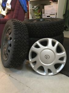 Goodyear Snow Trakker winter tires including rims & hubcaps
