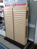 Free Standing Double Sided Slot Wall Retail Shelf Rack W/ Signs