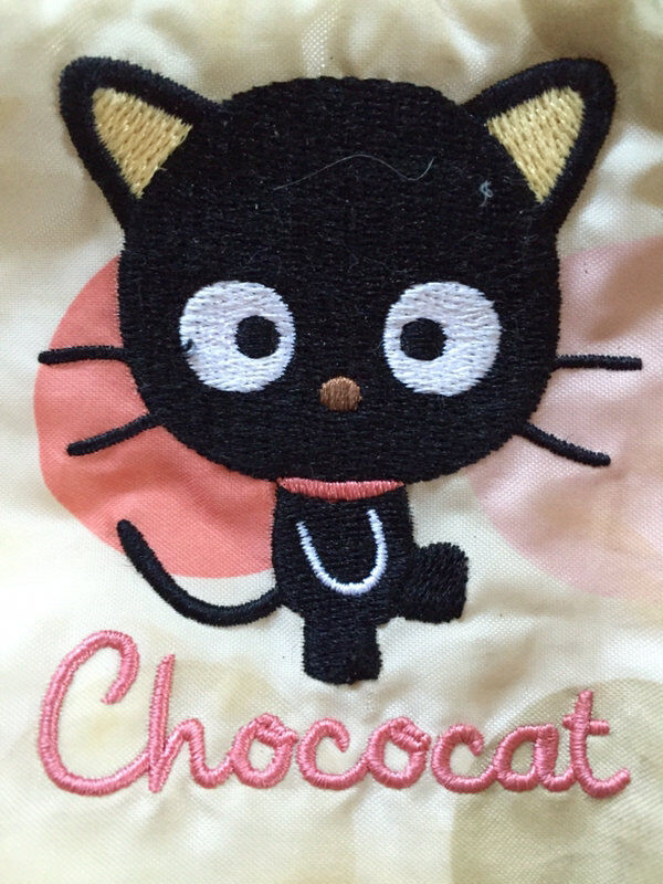 Vintage 2002 CHOCOCAT Make-up Bag Purse Bubbles Dot Rare HELLO KITTY SANRIO Exc!