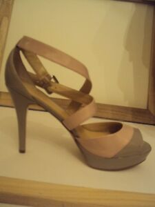 Brand New Marc Fischer LEATHER sandals, size 9.5 nude pink