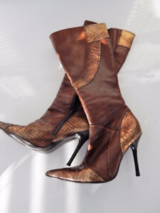 Aldo leather Knee high  boots size Eur 36 fit US 7