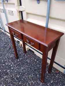 Small wood Brown hall table