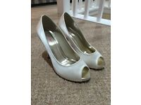 Rainbow club bridal shoes- size 4