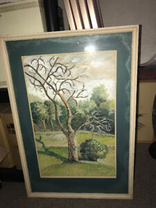 Original painting pictured is a the tree of life