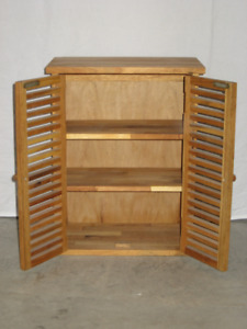 Wood Cabinet with Adjustable Shelves