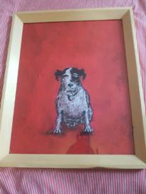 Ikea Dog Print in Frame