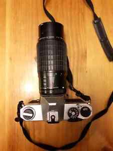 Pentax K1000 with 70-200mm zoom
