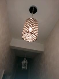 Ceiling diamond lights pair of 2.