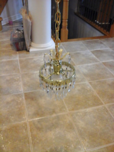 Crystal chandeliers very good quality $30 $40