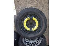 Brand new corsa spare steel wheel and tyre