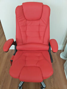 beautiful red computer chair
