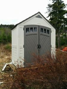 Storage Shed and presure treated wooden base