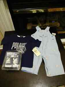 Boys bnwt overall outfit and shoes 3_6 months