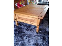 Solid pine coffee table. £25