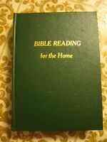 BIBLE READINGS FOR THE HOME, Green Hard Cover, colorful pictures