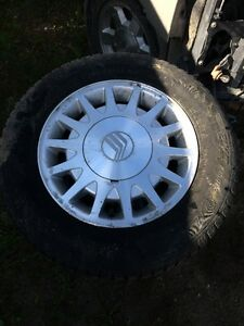 205/65/15 Winter tires on aluminum rims, off of a Ford Taurus