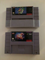 2 Super Nintedo games Super Mario World and Srar Trek