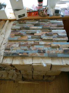 24x6 dry stack stone tile