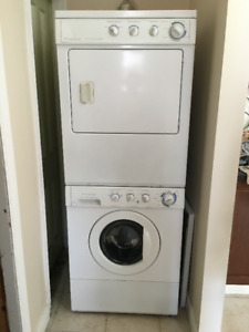 Frigidaire Gallery stackable washer/dryer for sale