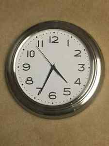 "Stainless Steel 12"" Round Wall clock London Ontario image 1"